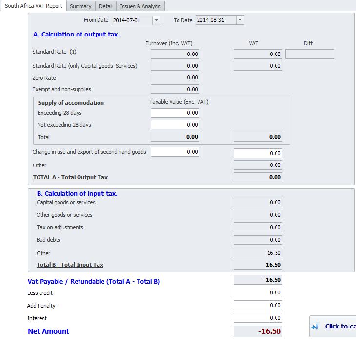 VAT report